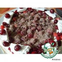 Торт с маскарпоне и ягодами
