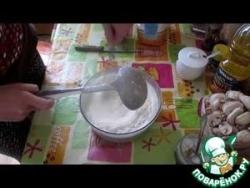 Блинчики с грибами, сыром и ветчиной