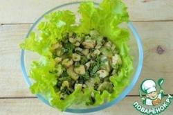 Салат из огурцов и сыра сулугуни