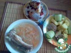 Полноценный обед в мультиварке