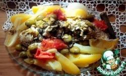 Щука с овощами