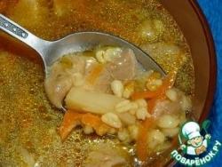 Грибной суп с булгуром в мультиварке