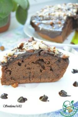 Шоколадный пирог на кефире в мультиварке