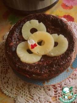 Шоколадный пирог с цуккини и творогом