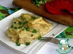 Картофельно-луковая запеканка