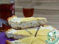 Творожная запеканка с зеленью и сыром