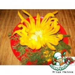 Хризантема из болгарского перца