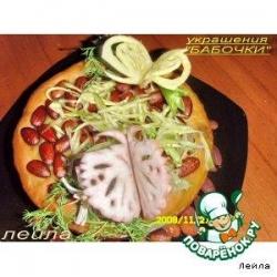 Украшение из овощей для блюд