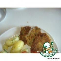 Пампушки-котлетки из кабачка с чесночной заливкой