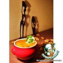 Красный суп с арахисом