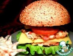 "Гамбургер с крабовыми палочками ""А'море мио!"""