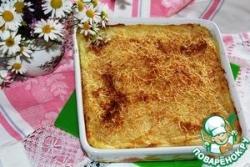 Картофельное пюре, запеченное с чесноком и сыром