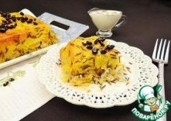 Иранская рисовая запеканка с курицей