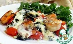 Рис с креветками и шпинатом