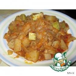 Картофельное рагу с кабачками