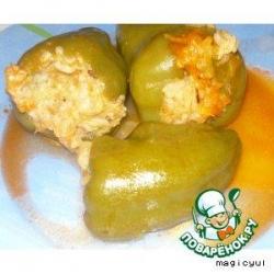 Перец фаршированный вегетарианский