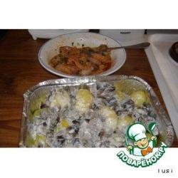 Цыплят и грибы по осени  готовят