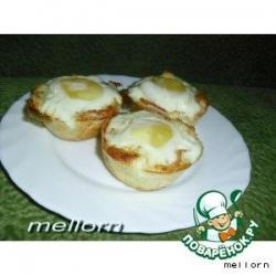 Тостовые маффины с яичницей