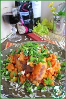 Картофельное рагу с белой фасолью