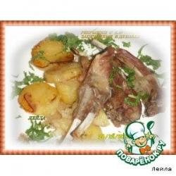Ребрышки с картошкой запеченные в духовке