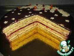 Фисташковый бисквит для торта