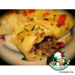 Бурритос с говядиной и фасолью