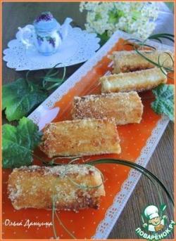 Гренки-роллы на завтрак