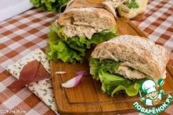 Сэндвич с рыбным паштетом