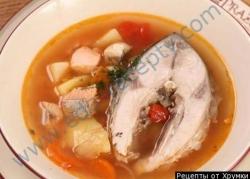 Рыбный суп уха из карпов