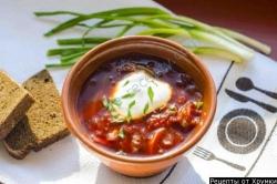 Вегетарианский борщ без мяса с фасолью и грибами рецепт с фото