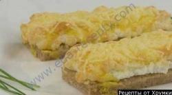 Горячие бутерброды с яйцом, чесноком и сыром в духовке рецепт с фото