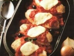 Куриная грудка с помидорами и сыром запеченная в духовке