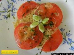 Горячие бутерброды с сыром и помидорами в духовке