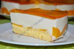 Сливочно творожный торт с персиками