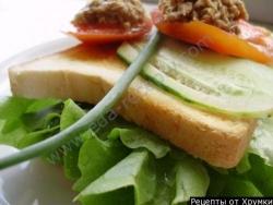 Бутерброды с тунцом консервированным и огурцом рецепт с фото