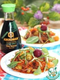Салат из тушеной моркови