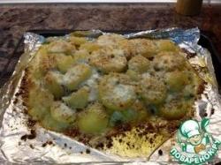Запеченный лосось со сливками и пармезаном