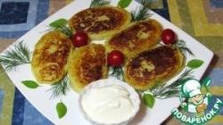 Картофельные зразы с курицей и грибами