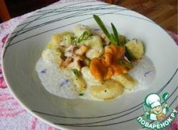 Картофельные ньокки с лисичками