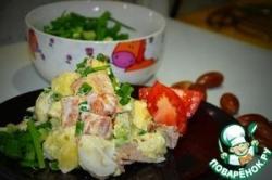 Теплый салат с картофелем и беконом