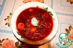 Суп-свекольник с сосисками