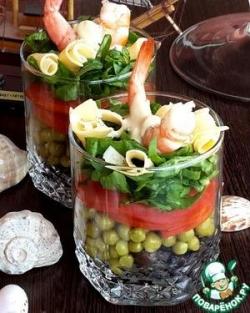 """Салат в стакане """"Для жены моряка"""""""