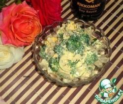 Салат с брокколи и луком