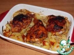 Картофель, запечённый с курицей