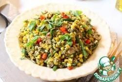 Салат из кукурузы с песто из базилика