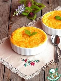 Десертный манный омлет с морковью