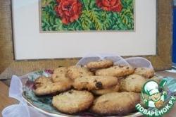 Ореховое печенье с пшенными хлопьями и изюмом