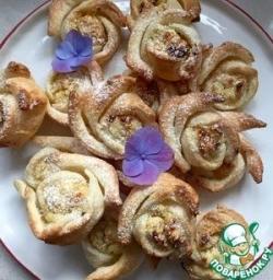 """Булочки """"Цветочки"""" с творожной-ореховой начинкой"""
