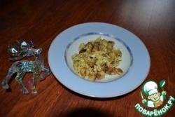 Омлет с хрустящими сухариками