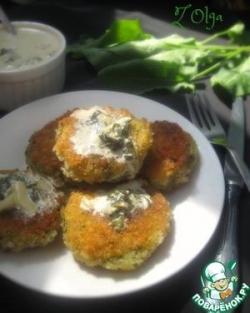 Картофельные котлеты со щавелевым соусом